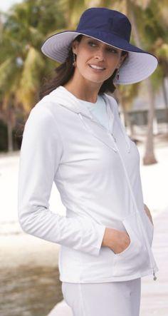 Coolibar Women s Wide Brim Reversible Summer Sun Hats Wide Brim Sun Hat 8afc238549a1