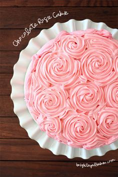 Chocolate Cream Cheese Rose Cake   Confessions of a Brown-Eyed Baker