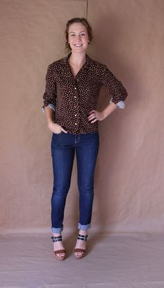 Palindrome Dry Goods: Handmade Vintage McCall's Blouse Pattern in Corduroy