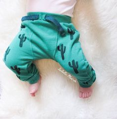 Cacti Hand Stamped Boys Joggers baby trousers by Isabellamaide Boys Joggers, Baby Leggings, All Things Cute, Baby Style, Dungarees, Cacti, Style Guides, Hand Stamped, Little Ones