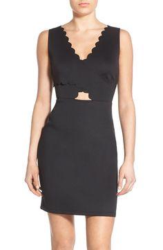 Soprano Scalloped Sleeveless Body-Con Dress