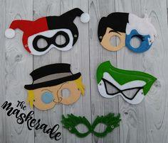 Batman Villians Inspired Felt Mask Party Favor by TheMaskerade