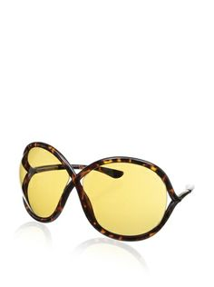 Tom Ford instantly recognizable trademark lense/frame gap. $360 Tom Ford TF272 Sunglasses, Francoise Havana