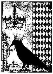 *Tim Holtz Cling Rubber ATC Stamp BLACKBIRD Stampers Anonymous