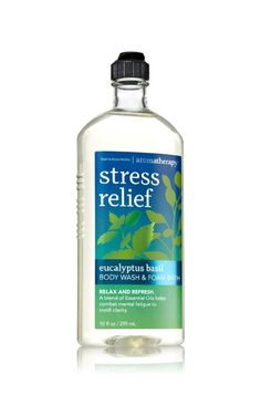 Bath & Body Works Aromatherapy Stress Relief Eucalyptus Basil Body Wash 10 Oz.