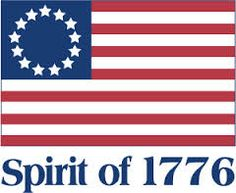 This shows the American Flag alongside with the year the thirteen colonies started