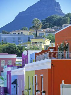 "I will be there after 3 weeks !!!! Bo-Kaap, Cape Town.  SA (The ""Malay Quarter"") Famous for their spicy foods."