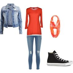 Holly's Random Outfit by madison-vanravenhorst on Polyvore featuring Snobby Sheep, VILA, Frame Denim, Converse and maurices