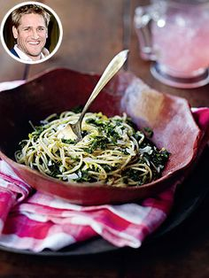Try Curtis Stone's kale spaghetti recipe. http://www.people.com/people/article/0,,20689511,00.html