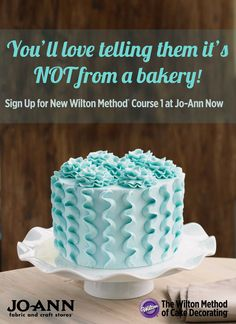 Learn how to decorate gorgeous cakes, cupcakes and more in the @Wilton Cake Decorating Cake Decorating Method Course 1 at Jo-Ann   Find more info on how you can register for a class and get started cake decorating at Joann.com