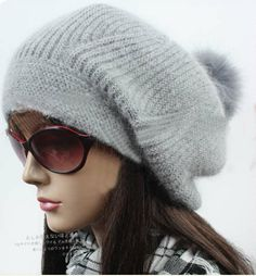 Handmade ladies Angora hat pile hat cute winter by 1iphonecaseshop 8e9a644ff5e