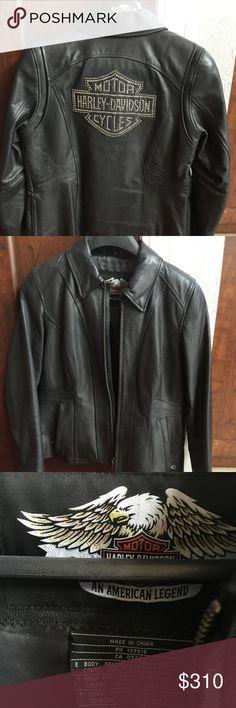 Harley Davison - Rhinestone leather jacket Beautiful - Harley Davidson Rhinestone leather jacket - size M - worn a few times Harley-Davidson Jackets & Coats
