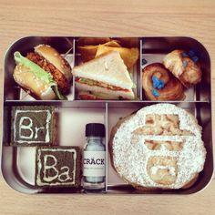 Breaking Bad-Bentobox - #vegan, #kivanta, #breakingbad - Breaking Bad, Food To Go, Bento Box Lunch, Vegan Recipes, Brunch, Favorite Recipes, Baking, Bento Ideas, Kindergarten
