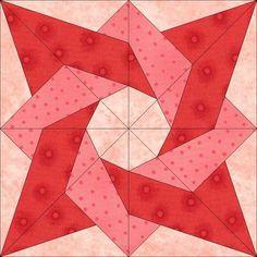 Birthday Star Block PDF pattern  by dreamcastlequilts