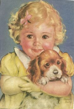 Charlotte Becker - Girl and Puppy {p4f23} (700×1030)