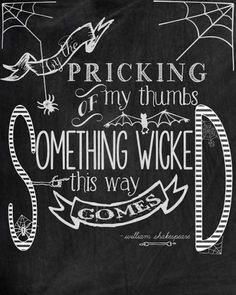 Freebie - halloween quote printable from Carissa Miss