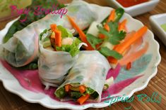 Bay Scallop Spring rolls@www.you-made-that.com