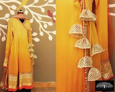 Have you ever wondered of how a Latkan can uplift the look of your lehenga? A Latkan can transform a lehenga into a glamorous and gorgeous one! Indian Designer Outfits, Designer Dresses, Blouse Patterns, Blouse Designs, Indian Dresses, Indian Outfits, Saree Tassels, Anarkali Dress, Indian Attire