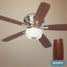 """52"""" Casa San Marin Frosted Glass Brushed Nickel Ceiling Fan"""