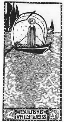 ≡ Bookplate Estate ≡ vintage ex libris labels︱artful book plates - Marianne Steinberger-Hitschmann 1909