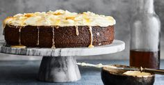 This rich, golden cake is full of spicy flavors and leaves your mouth with a warm, tingly feeling. It is a perfect accompaniment to a well-made cup of tea, and if you have any left over, makes a wonderful bread and butter pudding. To serve this cake as a dessert, serve it warm and accompany it with some slices of ripe, sweet pineapple.
