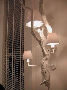 30 Chic Home Design Ideas – European interiors. - Olga Moldovan - Diy Home Design Driftwood Lamp, Driftwood Crafts, Wood Lamps, Diy Lamps, Ideias Diy, Home Design, Design Ideas, Design Trends, Design Case