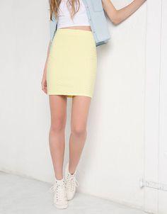 Falda amarillo pastel 12,99 €