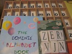 Alphabet Upper Lower Case Letter Match Sort Tray w ABC Book Reading Phonics PreK #LarasCrafts    #DominiePress   #autism