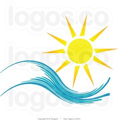 Free Summer Clip Art   Royalty Free Summer Sun and Wave Logo by KJ Pargeter - #3519