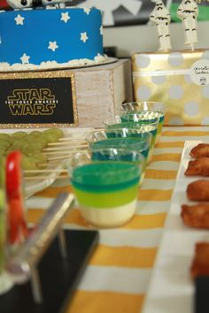 Green Ombre Jello Cups from a Star Wars Birthday Party via Kara's Party ideas | KarasPartyIdeas.com (5)