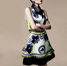 Retro Dress Stylish Flat Collar Sleeveless Vintage Floral Print Dress For Women #Unbranded