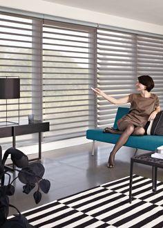 Luxaflex® Silhouette® Shades. The unique rotating vanes provide subtle light…