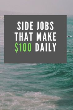 Looking to make extra income? Here's a list of reliable side jobs that earn $100 daily or more. It's not a huge list but it's a list of popular ways people are making extra money on the side right now, after work in the evenings and weekends. Use this extra money making ideas to earn $100 or more this weekend.