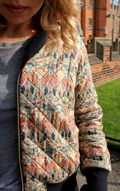 Rigel Bomber jacket | quilted liberty print