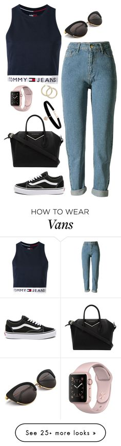 """Untitled #439"" by maria143sara on Polyvore featuring Tommy Hilfiger, Vans, Givenchy and Betsey Johnson"