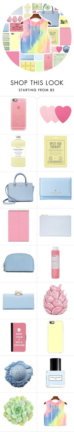 """Rainbow Pastel - Contest entry"" by stelbell ❤ liked on Polyvore featuring Casetify, Sephora Collection, Williams-Sonoma, Love 21, Michael Kors, Kate Spade, Whistles, MICHAEL Michael Kors, Korres and Ted Baker"