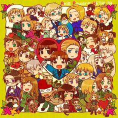 anime, aph, and chibi image