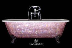 J'adore this Swarovski Crystal Encrusted Bathtub - it reminds me of something Mariah Carey would bath in.