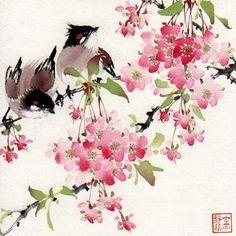 A Joyful Morning, painting by artist Jinghua Gao Dalia