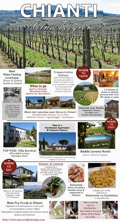 The Chianti Wine Region of Italy is full of great surprises, wonderful food and friendly tasting rooms.