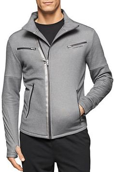 Calvin Klein Performance Athletic Asymmetrical Zip Up