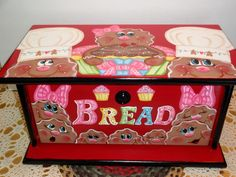 Custom Order For Christine, Gingerbread Bread Box,, Kitchen Decor, Gingerbread Decor, Home Decor,, by VickiesCrafts on Etsy