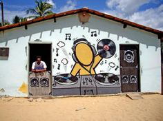 DJ+music+pictures+graffiti+wall