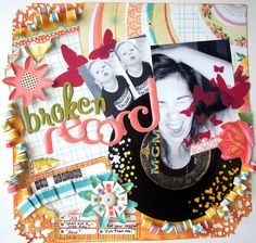 Broken Record *** Bad Girls DT April Kit - Two Peas in a Bucket