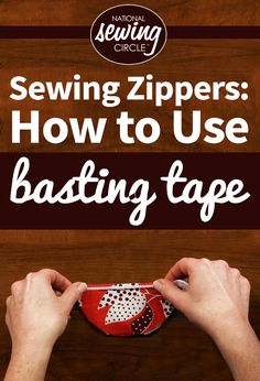Sewing zippers can be the trickiest part of any sewing project. Stacy Grissom shows how to make zippers a little easier with the help of basting tape. Basting tape is a double sided adhesive that can adhere to most fabrics and easily hold them in place for stitching, eliminating the need for pins. Stacy explains how this makes sewing zippers easier and quicker because there are no pins to pucker the fabric and no need to stop and remove any pins while stitching.