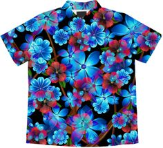 Flower Finale short sleeve blouse by valxart.com $72.00