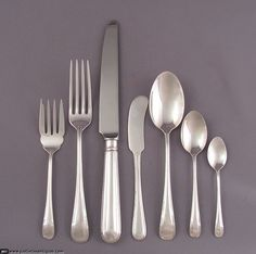 JH Tee Antiques are specialists in antique silver, Birks sterling silver flatware and English silver flatware. Sterling Silver Flatware, Antique Furniture, Antique Silver, Antiques, Tableware, Decor, Decoration, Dinnerware, Decorating
