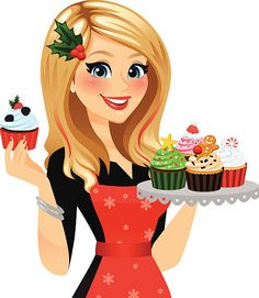 A festive baker with her freshly made holiday cupcakes! Single cupcake and cupcake tray removable in Ai . Red hair streaks, apron, snowflakes, holly hair clip, all removable in Ai. Girl Cartoon, Cute Cartoon, Red Hair Streaks, Love Heart Emoji, Cupcake Toppers Free, Cupcake Tray, Funny Emoji Faces, Cake Logo Design, Holiday Cupcakes