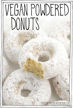 Vegan Donut Recipe, Vegan Doughnuts, Donut Recipes, Donuts Donuts, Vegan Dessert Recipes, Vegan Breakfast Recipes, Vegan Recipes Easy, Best Vegan Desserts, Vegetarian Desserts