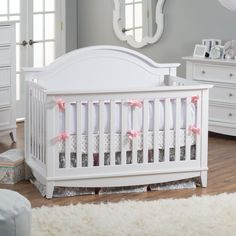 Amazon.com : Franklin & Ben Arlington 4-In-1 Convertible Crib with Toddler Rail, White : Franklin And Ben : Baby
